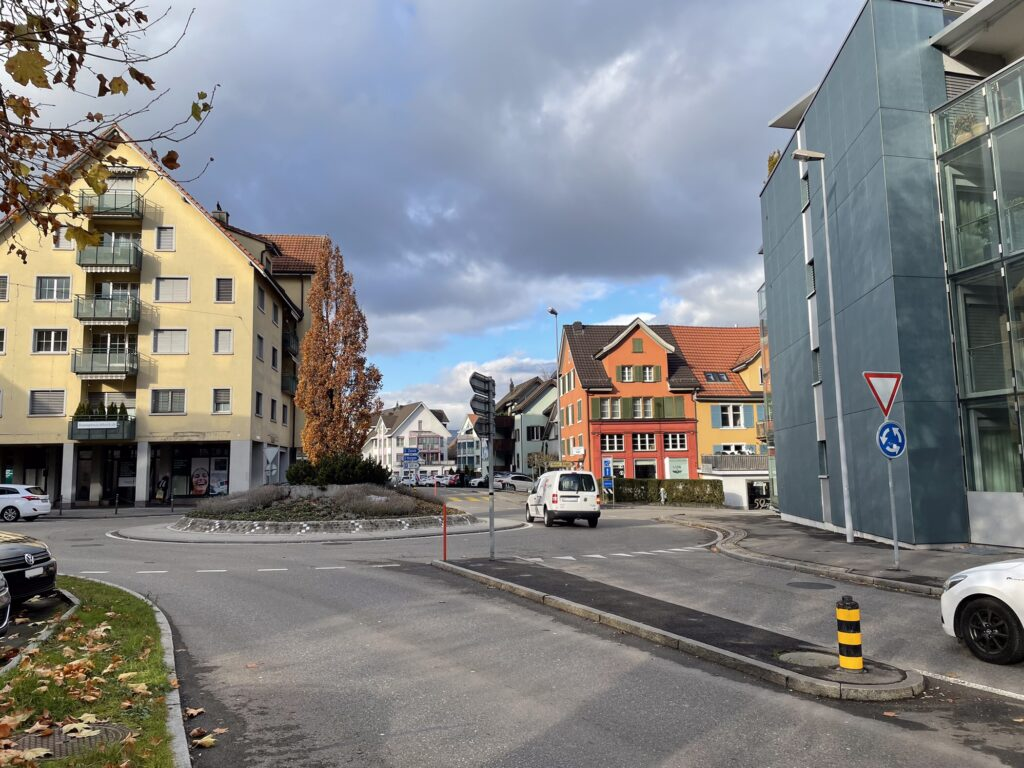 Kreisel am Bahnhof in Wädenswil